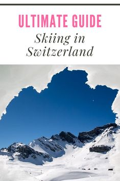 ever dreamed of visiting Switzerland in the winter? If so, skiing is almost certainly part of your fantasy. This guide, written by a local, has absolutely everything you need to know about skiing in Switzerland! Ski Europe, Travel Europe, Winter Europe, Travel Info, Travel Articles, Travel Plan, Travel Tips, Visit Switzerland, Slow Travel
