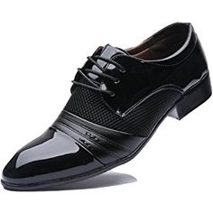 Rainlin Men's Breathable Leather Lined Perforated Dress Oxfords Shoes