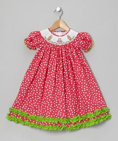 Take a look at this Red Owl Bishop Dress - Infant, Toddler & Girls by Candyland on #zulily today!