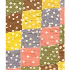 Quilted Polka Dot Cotton Craft Fabric - Blue, Pink, Green, Yellow & Brown Listing in the Other,Yardage,Fabrics,Crafts, Handmade & Sewing Category on eBid United States | 147697984