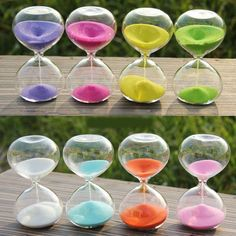 5/10/30/60 Minutes Glass Sand egg Timer clock hourglass home decor holiday gift in Timers | eBay