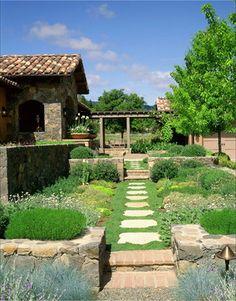 Napa - mediterranean - landscape - san francisco - Sterling-Huddleson Architecture