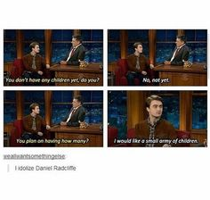 Harry Potter Fandom, Harry Potter World, Daniel Radcliffe, Boys Who, Army, Lol, Fandoms, Baseball Cards, How To Plan