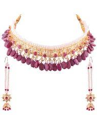 Smart Deal Jewellers Handmade Hyderabadi Bridal Collection Royal Nizam Shahi Guluband Real Rani and White