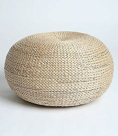 Urban Outfitters Rattan Pouf