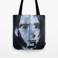 Tote bag - head of a wall graffiti stencil. Stencil Graffiti, G Man, Shopping Bag, Photograph, Reusable Tote Bags, Paint, Wall, Stuff To Buy, Photography