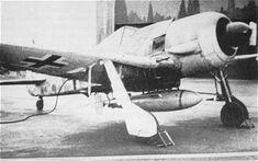 "Testing of the BV 246 with a Focke-Wulf Fw 190F-8 Blohm & Voss BV 246 ""Hagelkorn"" Guided Bomb Luftwaffe, Focke Wulf 190, Ww2 Aircraft, Rockets, Box Art, Wwii, Aviation, Germany, Military"