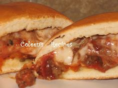 Coleen's Recipes: SANDWICH RECIPES  ham & cheese is good too