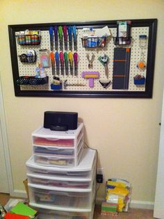 craft pegboard--- change it to baking supply board