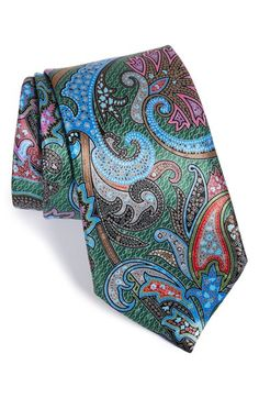 Ermenegildo+Zegna+'Quindici'+Paisley+Print+Silk+Tie+available+at+#Nordstrom