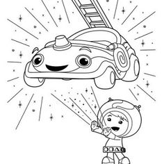 Team Umizoomi Cute Little Milli In Team Umizoomi Coloring Page