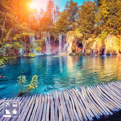 O Parque Nacional de Plitvice, na Croácia, é de tirar o fôlego. #ClubeTurismo #AmoViajar