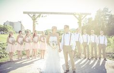 Wedding party in low light, vintage | Vintage wedding photography | www.newvintagemedia.ca