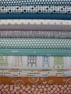 Fabricworm Custom Bundle, Bustling City, 12 Total
