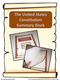The Constitution is one of the most important documents of the United States. This activity allows the students to explore in detail the different articles and amendments that encompass this great document in a fun engaging way.