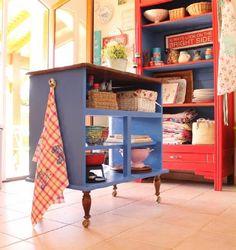 Diy Kitchen Island From Dresser dresser turned into kitchen island = extra storage   kitchen