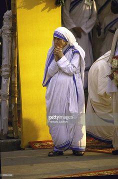 Bl. Mother Teresa during visit of St. John Paul the Great.