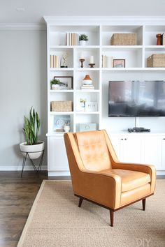 Family Room Built-Ins Custom to the Wall | The DIY Playbook