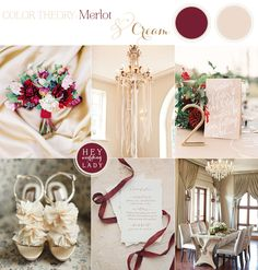 The Hottest Color for Fall 2014 - Merlot and Cream Autumn Wedding Inspiration | See More! http://heyweddinglady.com/fall-2014s-hot-color-merlot-wedding-inspiration/