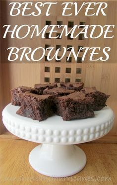 Best Ever Homemade Brownies are a quick and easy way to make the MOST DELICIOUS treats! You'll never want the box version gin after trying these super chocolate brownies. Just as simple as a box mix with a taste that'll make you CRAVE them!  sunshineandhurricanes.com