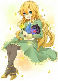 Mary from Ib Rpg Maker, Maker Game, Ib Mary, Ib And Garry, Classic Rpg, Simple Anime, Mad Father, Anime Child, Anime Girls
