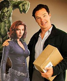 I like to believe that Benedict has cutouts of all the Avengers in his house.