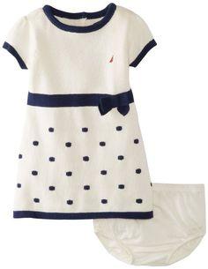 Amazon.com: Nautica Baby-Girls Infant Short Sleeve Dot Sweater Dress: Clothing