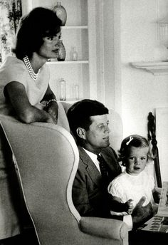 Jackie, John and Caroline Kennedy at Hyannis Port, August 21, 1959.