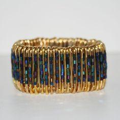 Black Magic  Safety Pin Bracelet by MysticLily on Etsy, $20.00