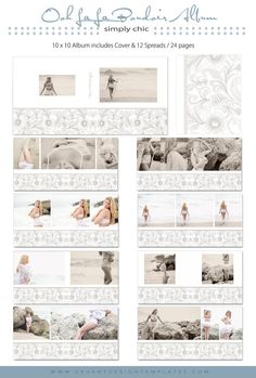 Boudoir Ooh La La 10x10 Album Photography Template by SavantDesign
