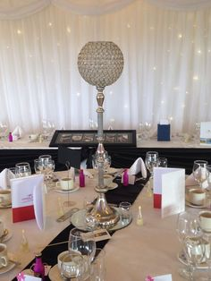 Wedding Centrepiece: 50cm Or 80cm Crystal Globe Hire Winter Wonderland Christmas