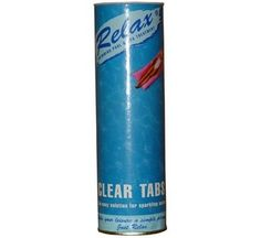Relax Clear Tabs - for sparkling water - Cloudy pools turn sparking clean - 800g 100g x 8 tablets