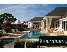 Poolside at #JupiterHillsClub luxury estate for sale