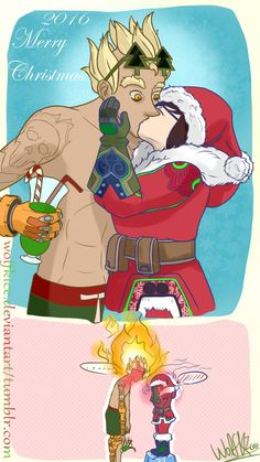 Overwatch - Meihem - Christmas by WolfKIce