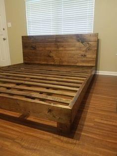 Diy King Bed Frame, Bed Frame Plans, King Size Bed Frame, Bed Frame And Headboard, Diy King Size Headboard, Build Bed Frame, Wooden King Size Bed, King Size Bedding, King Size Beds