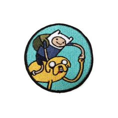 Iron on Adventure Time Finn and Jake embroidered patch ($8.50) ❤ liked on Polyvore featuring fillers, patches, adventure time, misc and accessories