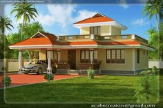 Most Impressive And Interesting Latest Special Collections of Home Design Gallery, Traditional House Magazine, Best And Stylish Ideas Of Single Story Homes Simple House Design, Modern House Design, American Home Design, House Design Pictures, Three Bedroom House Plan, Latest House Designs, House Plans With Photos, Kerala House Design, Kerala Houses