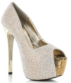 6 Studded Peep Toe Pump in Nude Fab Shoes, Crazy Shoes, Shoes Heels, Flats, Clear High Heels, Sexy High Heels, Shoe City, Men In Heels, Peep Toe Pumps