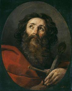 Saint Paul - Guido Reni Completion Date: 1634 Style: Baroque Italian Painters, Italian Artist, Annibale Carracci, Colombian Art, Baroque Painting, San Pablo, Ukrainian Art, Canadian Art, Korean Art
