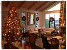Decoración navideña / la sala de la casa / árbol de navidad /