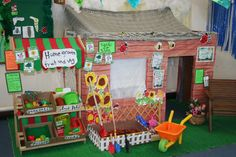 Garden role-play area classroom display photo - Photo gallery - SparkleBox