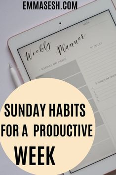 Wanna be productive during the week? then you've got to create some Sunday Habits to improve your week and stay productive, Here some things you should do...