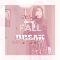 At least I didn't fall... I looooove Glee! And most of all Rachel