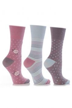 Pack of 9 Flower Polka Dots Stripes Socks Ruffle Top