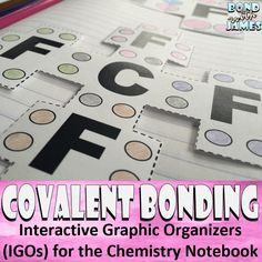 Enhance your chemistry interactive notebook. The product includes student notes and interactive graphic organizers (IGOs) covering covalent (molecular) bonding/compounds.  All-in-One: Engage, explore, explain, elaborate, and evaluate!