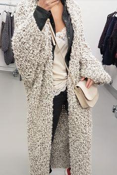 Cream colored long cardigan