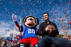 """After being named MVP of Super Bowl XLVII, Joe Flacco uttered those famous winning words, """"I'm Going to Disney World!"""" Today, he did just that!"""