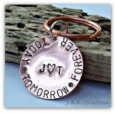 Hand Stamped Key Chain  Personalized Key Chain by JillAllenDesign, $28.00