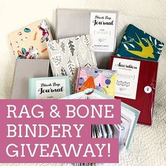 I am very excited to announce my first giveaway as an ambassador for @ragandbonebindery ! I absolutely love their journals and Im excited for the chance to share their amazing products with one lucky winner. All this week Ill be sharing projects Ive been working on in their journals (in all three sizes) so that you can see a sampling of their products and the beautiful book cloth they use (and they just released two new prints one of which is called Pink Garden and its gorgeous!). To enter…