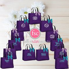 13 Bridesmaid Tote Bags Gifts Bag Beach Bachelorette Party